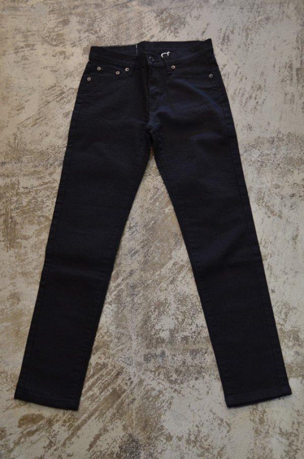 画像1: レディス ストレッチスリムパンツ ブラック